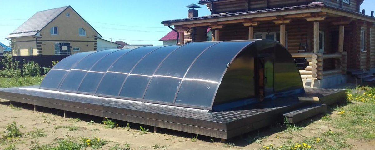 Закончены работы по строительству павильона для бассейна