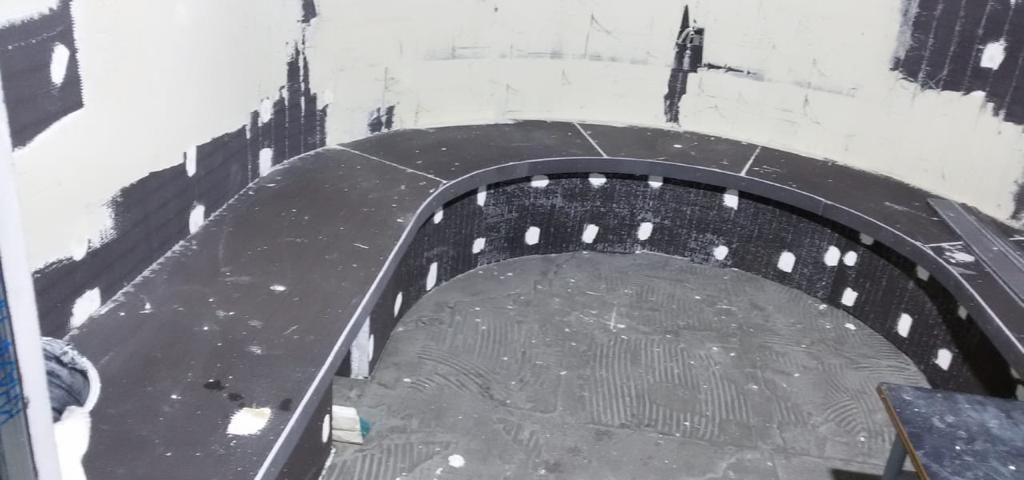 Продолжаются работы по строительству хамама из панелей марки Листар в финтес клубе «Финтес хаус».